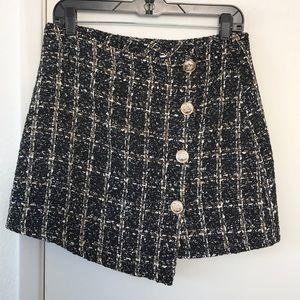 Dresses & Skirts - SHEIN mini tweed button skirt